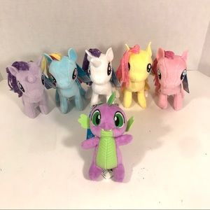 My Little Pony 5 Plush Ponies And Spike